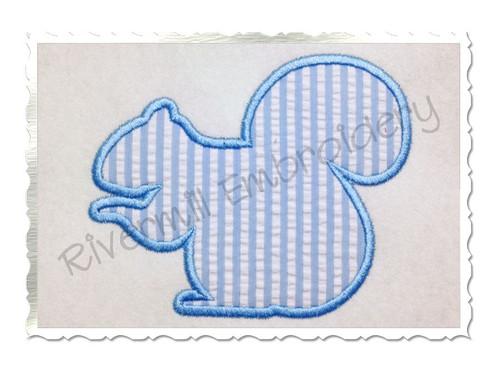 Squirrel Silhouette Applique Machine Embroidery Design