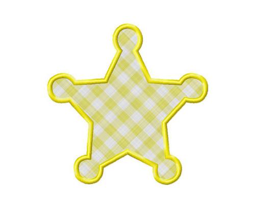 Sheriff Badge Applique Machine Embroidery Design
