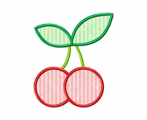 Applique Cherries Machine Embroidery Design