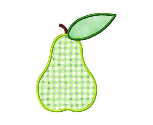 Pear Applique Machine Embroidery Design