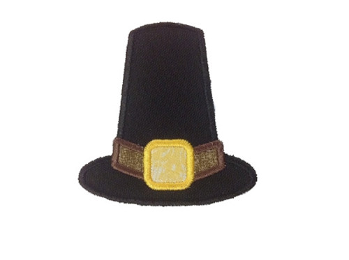 Applique Pilgrim Hat Machine Embroidery Design