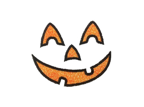 Jack O Lantern Applique #1 Machine Embroidery Design