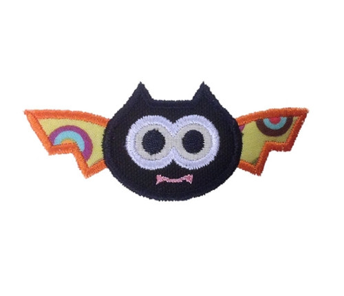 Big Eyed Bat Applique Machine Embroidery Design