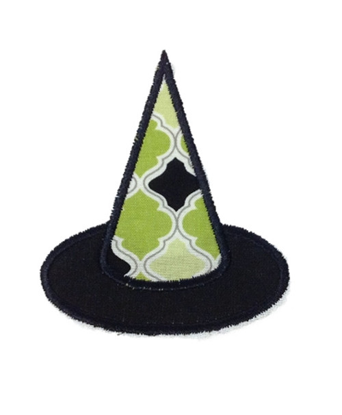 Applique Witch Hat Halloween Machine Embroidery Design