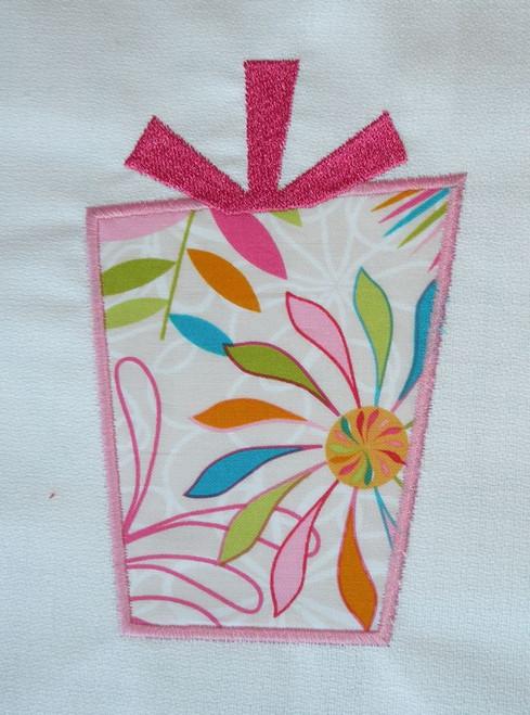 Present Applique Machine Embroidery Design
