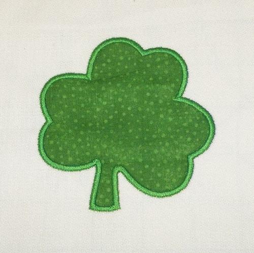 Shamrock Applique Machine Embroidery Design