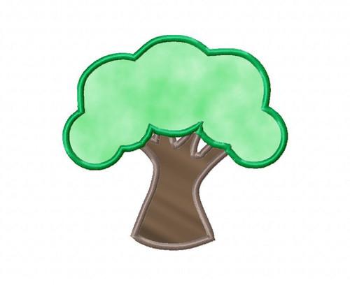 Tree Applique Machine Embroidery Design