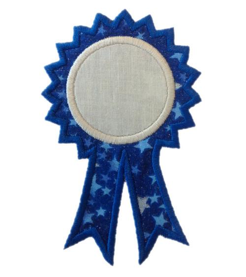 Award Ribbon Applique Machine Embroidery Design