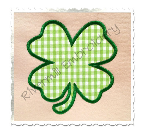 Four Leaf Clover Applique Machine Embroidery Design