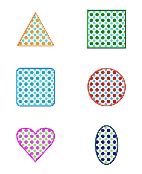 Applique Shapes Pack Machine Embroidery Designs
