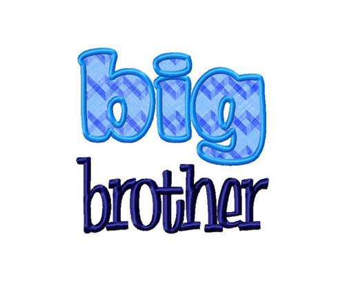 Big Brother Applique Machine Embroidery Design