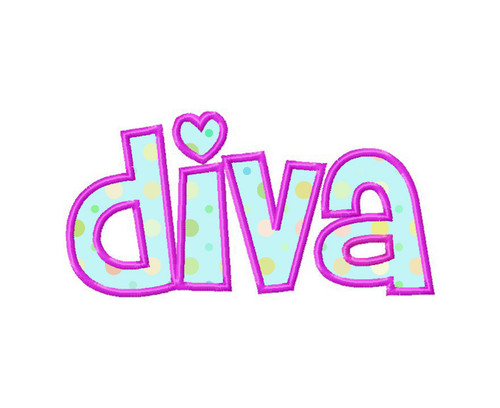 Diva Applique Machine Embroidery Design