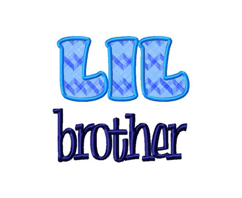 Little Brother Applique Machine Embroidery Design