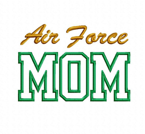 Air Force Mom Applique Machine Embroidery Design