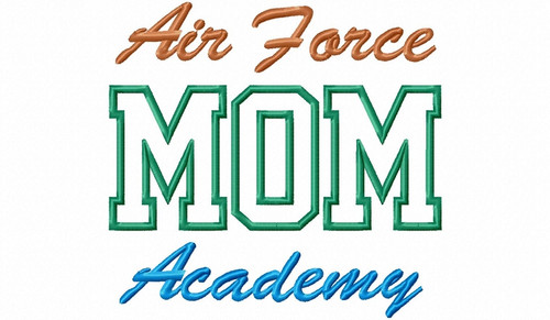 Air Force Mom Acadeny Applique Machine Embroidery Design