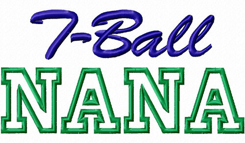 T-Ball Nana Applique Machine Embroidery Design