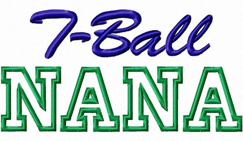 T-Ball Nana Applique Machine Embroidery Design