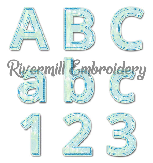 Double Outline Raggy Applique Machine Embroidery Alphabet