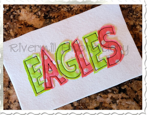 Fun N Funky Raggy Applique Machine Embroidery Alphabet
