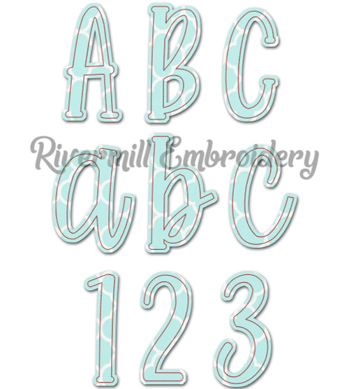Farmhouse Raggy Applique Machine Embroidery Alphabet