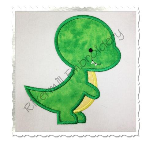 Applique Tyrannosaurus Rex Dinosaur Machine Embroidery Design