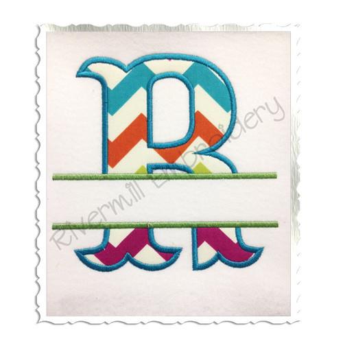 Split Carnival Applique Machine Embroidery Alphabet