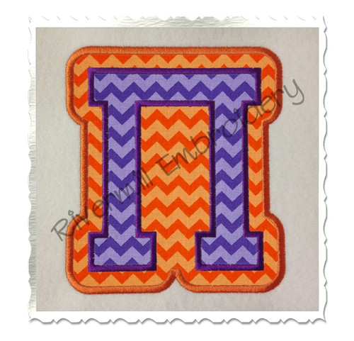 Double Applique Greek Varsity Machine Embroidery Alphabet