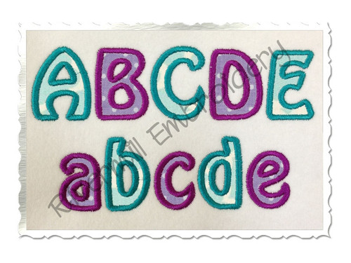 Small 1 1/2 Inch Hobo Applique Machine Embroidery Alphabet