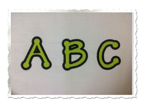 Small 2 Inch Tinker Toy Applique Machine Embroidery Alphabet