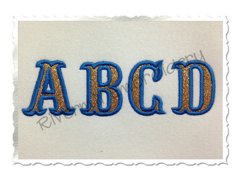 Small 2 Inch Carnival Applique Machine Embroidery Alphabet