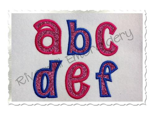 Small 2 Inch Sunshine Applique Machine Embroidery Alphabet