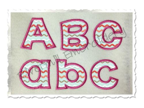 Small 2 Inch Happy Applique Machine Embroidery Alphabet