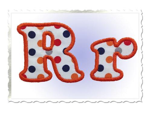 Small 2 Inch Cooper Applique Machine Embroidery Alphabet