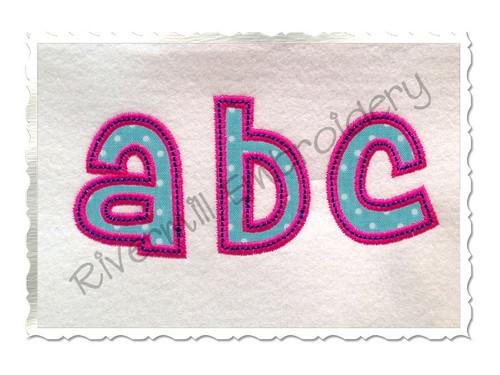 2 Inch Cheri Applique (Satin w/ Bean Stitch) Machine Embroidery Alphabet