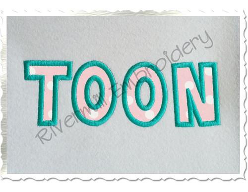 Small 2 Inch Toon Applique Machine Embroidery Alphabet