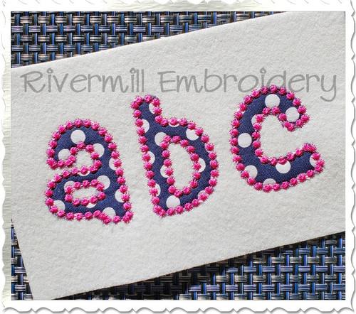 Small 2 Inch Cheri Candlewick Applique Machine Embroidery Alphabet