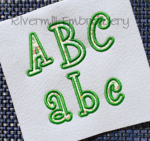 Small 2 Inch Boyz R Gross Applique Machine Embroidery Alphabet