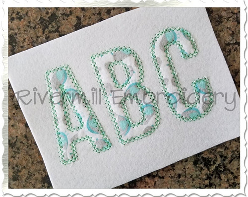 Walter Diamond Applique Machine Embroidery Alphabet