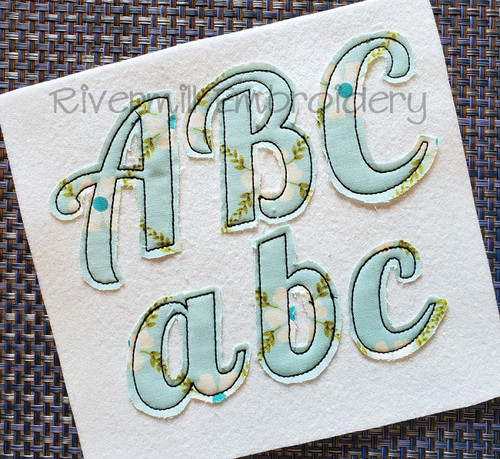 Lobster Raggy Applique Machine Embroidery Alphabet