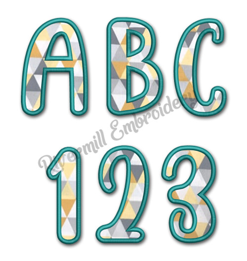 Bubbles Applique Machine Embroidery Alphabet