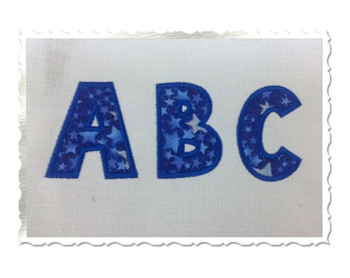 Toon Applique Machine Embroidery Alphabet