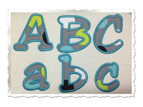 Jester Applique Machine Embroidery Alphabet Font