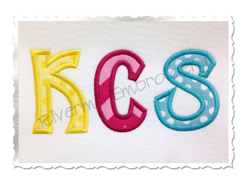 Sunshine Applique Machine Embroidery Alphabet Font
