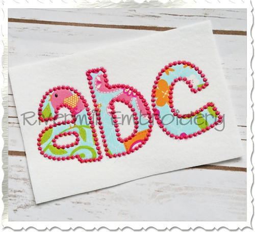 Cheri Candlewick Applique Machine Embroidery Alphabet