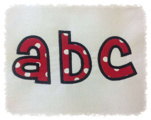 Cheri Applique Machine Embroidery Alphabet