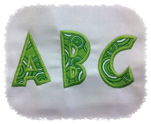 Grouch Applique Machine Embroidery Alphabet