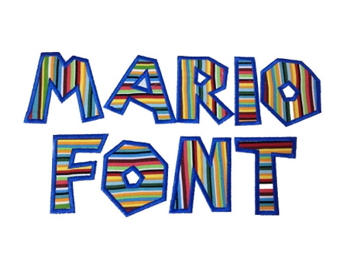Mario Brothers Applique Machine Embroidery Alphabet Font