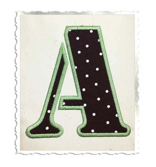 Army Stencil Applique Machine Embroidery Alphabet