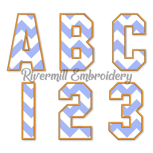 Varsity San Serif Applique Machine Embroidery Alphabet