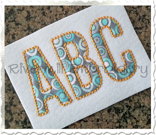 Walter Candlewick Applique Machine Embroidery Alphabet